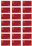 Murcia Flag Stickers - 21 per sheet